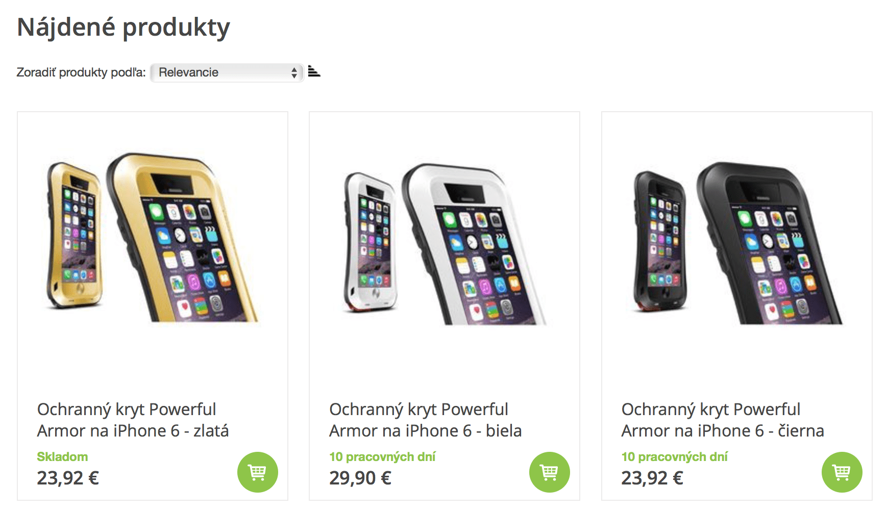 iPhone 6 Safety cases - search results thanks to BlueWinston group campaign in Google search