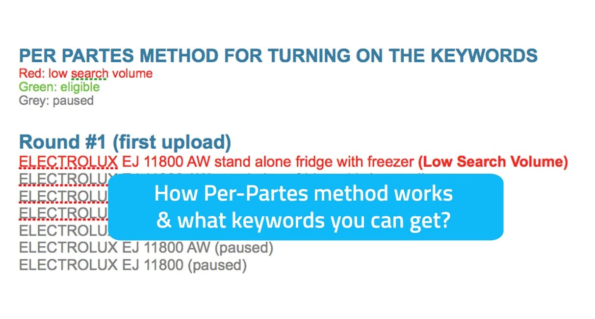 How per partes for gradually enabling keywords works in Google AdWords