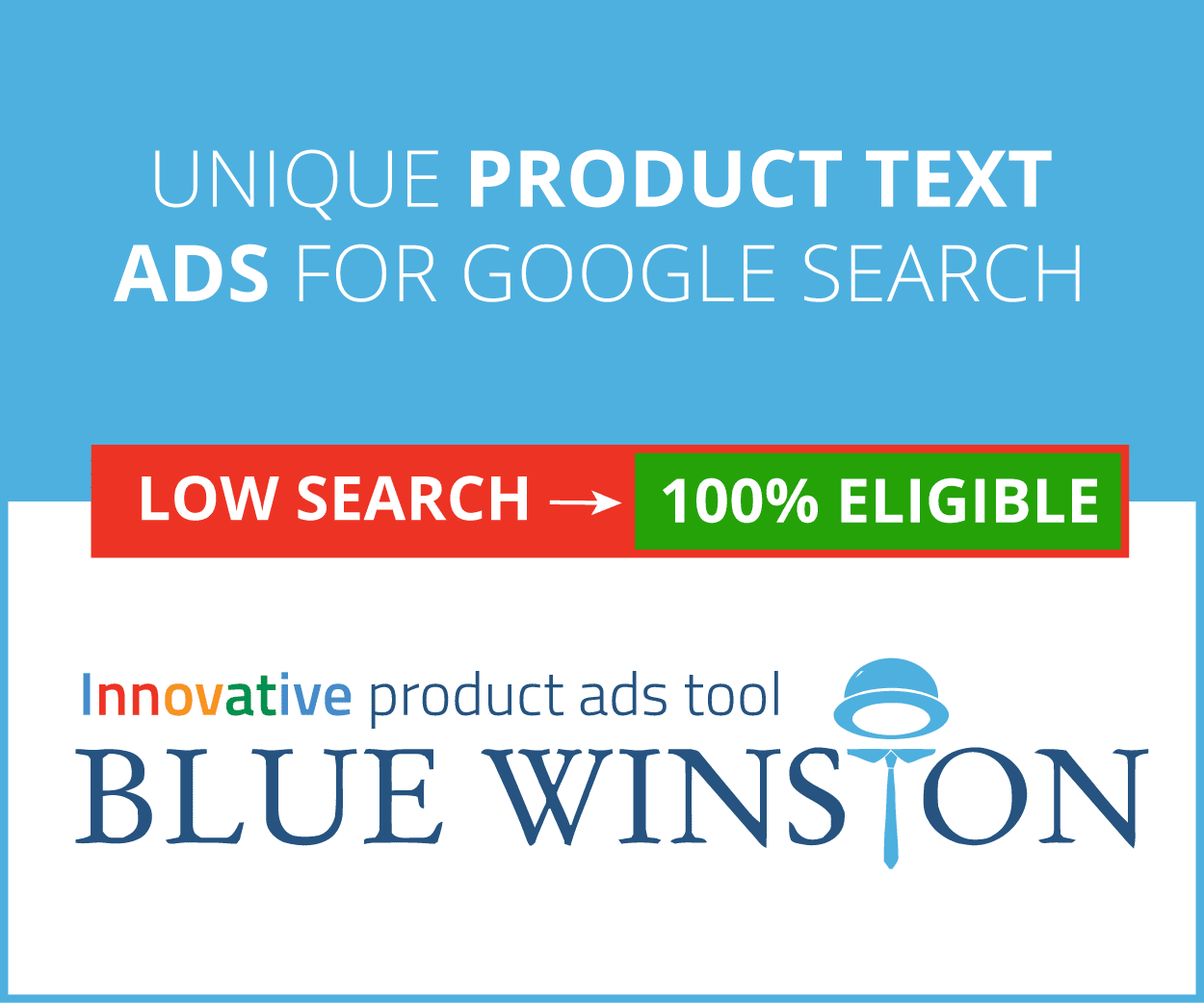 Unique product text ads for google adwords without low search volume