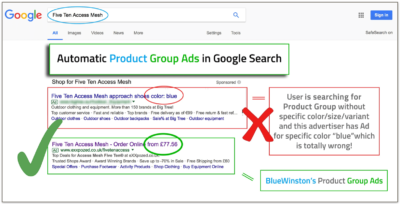 Product - Group text ads campaigns in Google Search