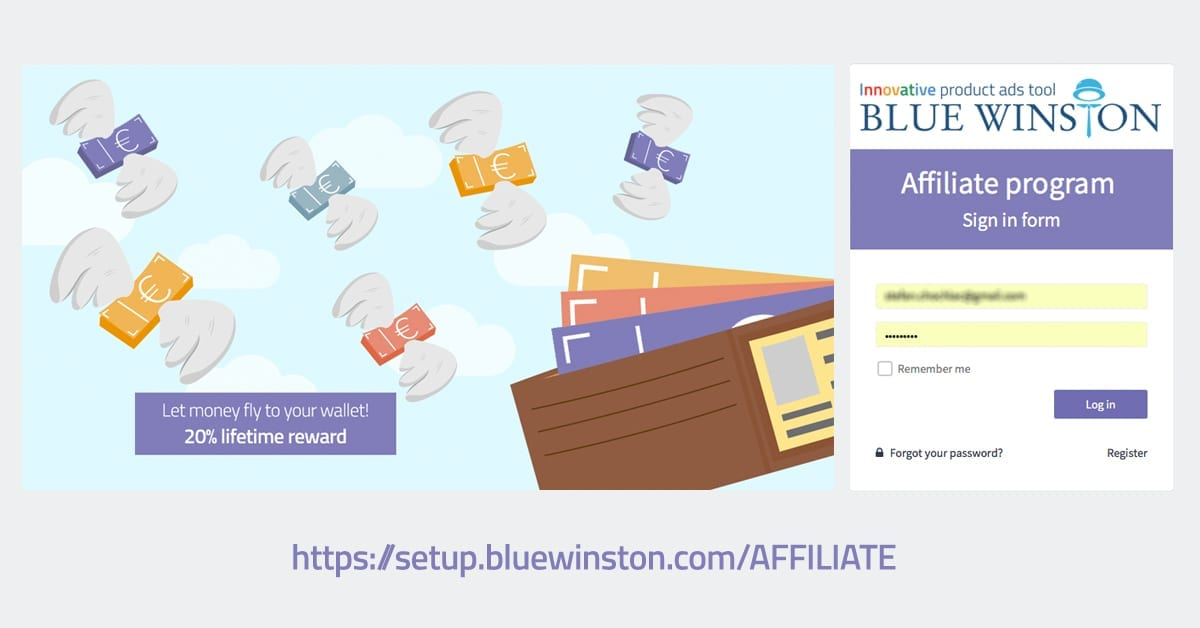 Bluewinston 39 S Affiliate Program 20 Lifetime Reward