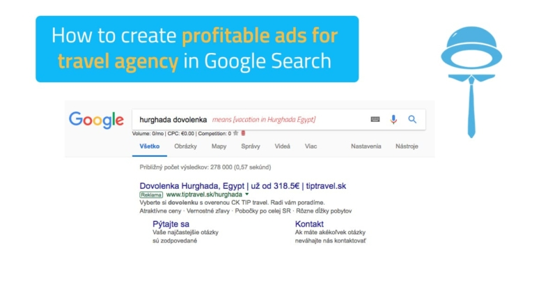 Automated ads for travel agencies in Google Search