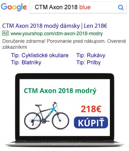 Product text ad in Google Search