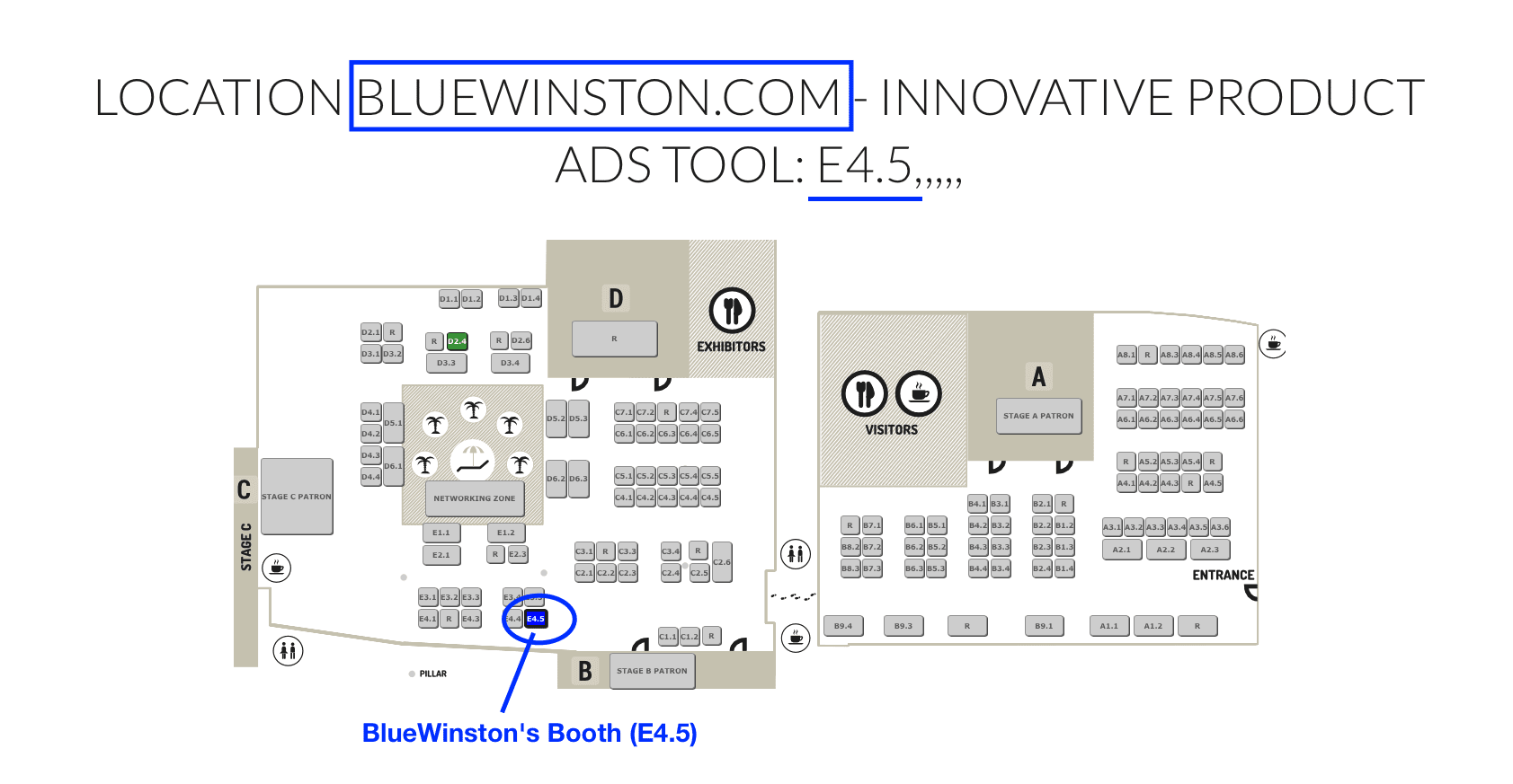 BlueWinston's booth at E-commerce Berlin Expo 2019