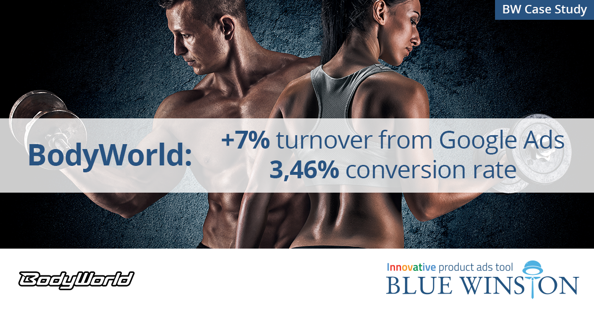 Case study BodyWorld: +7% turnover from Google Ads, 3,46% conversion rate