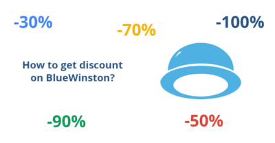 How to get discount on BlueWinston?