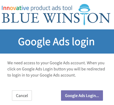 BlueWinston Google Ads Login