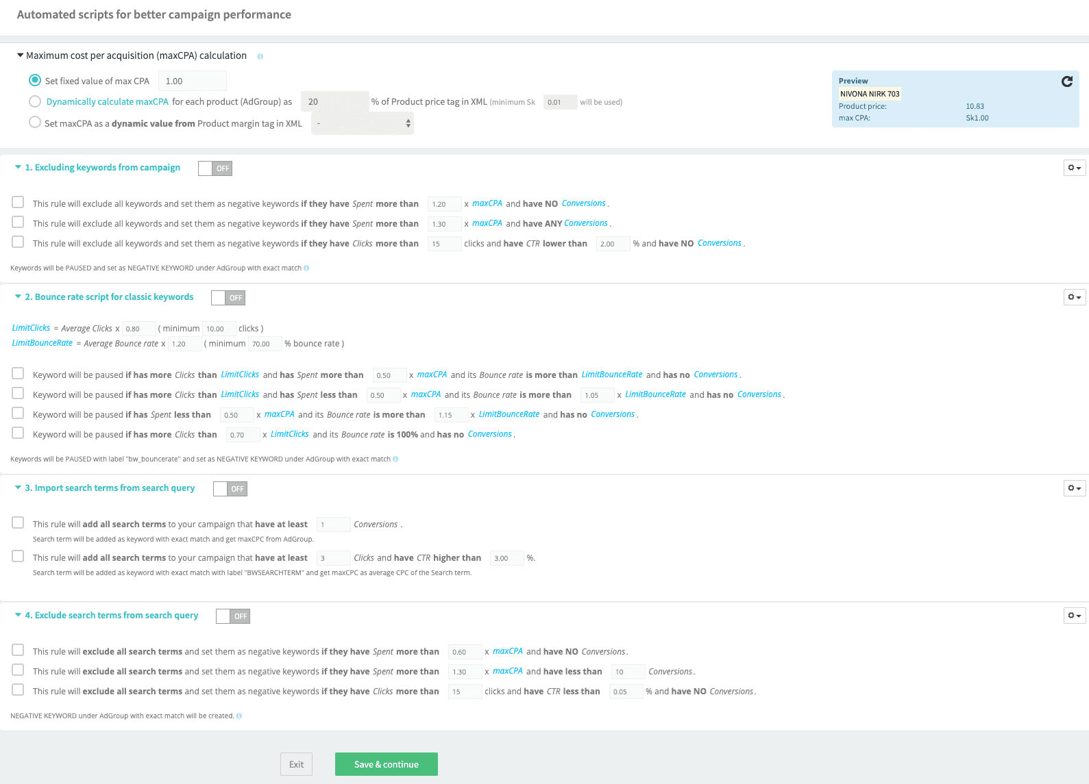 BlueWinston Product Text Ads Automated Scripts
