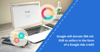 Google will donate 304 mil.€ to businesses