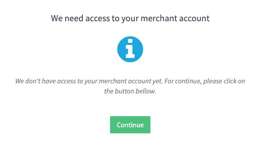 access your Merchant account.