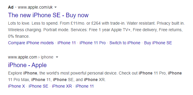 people click on the Google Ad while searching