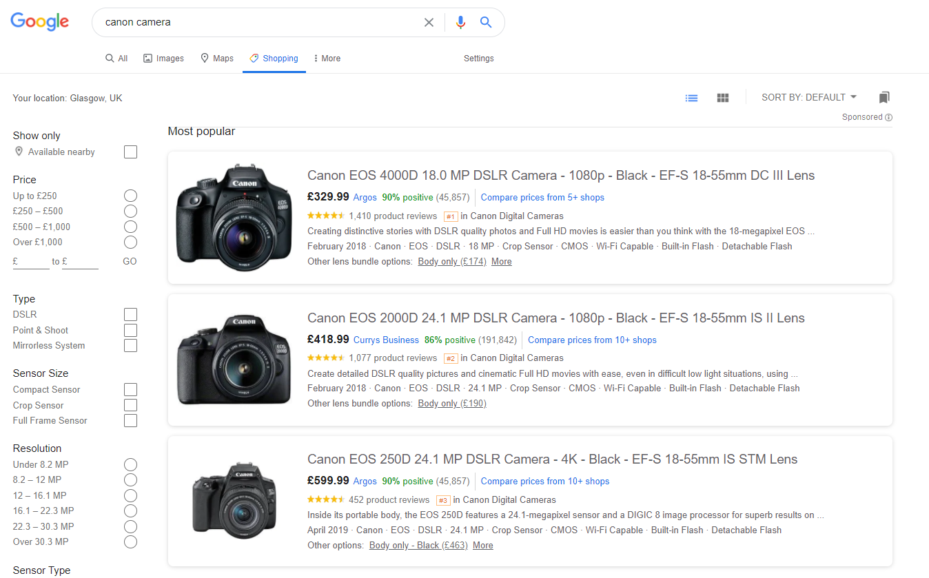 On the Shopping tab in Google search results01