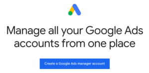 google ads manager account